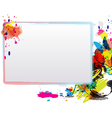 abstract art design with frame vector image