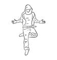 Hip-hop man dancer vector image