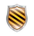 metallic shield with right diagonal stripe vector image