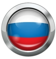 Russian flag metal button vector image