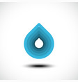 abstract blue water drop icon vector image vector image