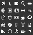 Application icons on black background Set 2 vector image vector image