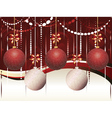 Red and White Xmas Balls2 vector image