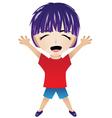 Cartoon Happy Boy vector image