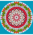 Mandala decoration isolated design element Zentang vector image vector image