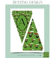 Bunting design - Mushroom from Wonderland vector image