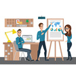 Business professional work team Training staff vector image