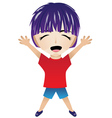 Cartoon Happy Boy vector image