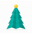 Christmas tree made from circles classic vintage vector image