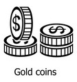 coin icon simple black style vector image