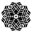 geometric round ornament vector image