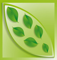 green leaves inside the big one vector image