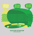 Soccer stadium graphic vector image
