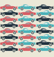 stylish pattern with retro cars vector image