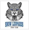 Snow Leopards - sport emblem vector image