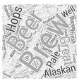 Alaskan Brewing Word Cloud Concept vector image
