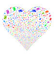 credit card fireworks heart vector image