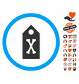 dead marker icon with dating bonus vector image