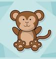 cute monkey baby animal cartoon image vector image