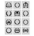 laurel wreaths icon vector image