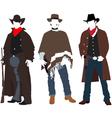Cowboys vector image vector image