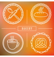 bakery icon badge vector image
