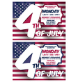 4th of july invitation card vector