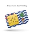 British Indian Ocean Territory mobile phone sim vector image