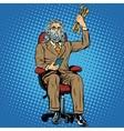businessman Zeus the Thunderer vector image