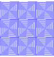 Design seamless blue checked pattern vector image