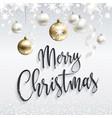 festive white banner merry christmas greetings vector image