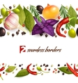 Herbs and spices pattern vector image