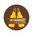 isolated oktoberfest label vector image