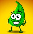 leaf mascot vector image