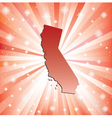 Red California vector image