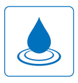 Water drop icon with wave 5 vector image