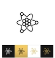Atom or nuclear core structure icon vector image