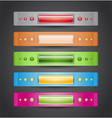 Colorful banners on gray background vector image