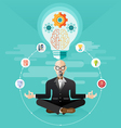 old Business meditation create idea vector image vector image