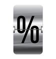 Alphabet silver flipboard letters percent vector image vector image