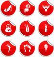 Women stickers vector image