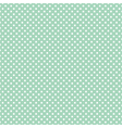 Tile pattern white polka dots on mint green vector image