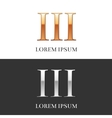 3III Luxury Gold and Silver Roman numerals sign vector image