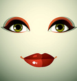 Emotional expression on the face of a cute girl vector image