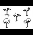 magical trees -black on white vector image
