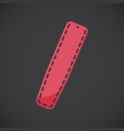 spinal board flat icon vector image
