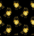 unicorn gold seamless pattern vector image