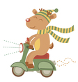 Deer on scooter vector image vector image