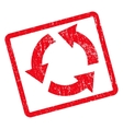 Recycle Icon Rubber Stamp vector image