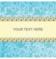 Vintage card with floral ornament background vector image